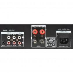SkyTronic Καραόκε Ενισχυτής ισχύος 2 x 50W με οθόνη, υποδοχές για μικρόφωνα και Echo εφέ σε Μαύρο