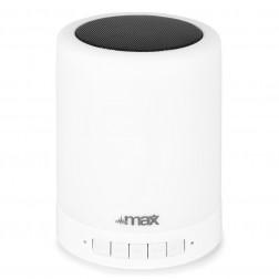MaxMX6 Επαναφορτιζόμενο Ηχείο με Bluetooth Led φωτισμό microSD/FM/AUX και Μικρόφωνο για χρήση Hands free