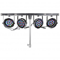 BeamZ PARBAR 4-Way Kit 18x 1W RGB LEDs DMX