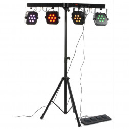 BeamZ Professional LED Parbar 4-Way Kit 7x 10W 4-in-1 LEDs