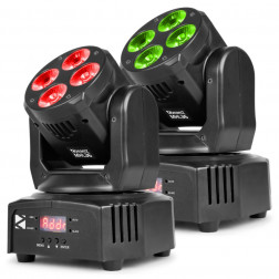 BeamZ MHL36 Σετ με Επαγγελματικές Κινούμενες Ρομποτικές Κεφαλές με τσάντα μεταφοράς για μικρές εκδηλώσεις, γάμους και mobile DJs