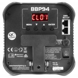 BeamZ BBP94 ασύρματος προβολέας με τηλεχειριστήριο και επαναφορτιζόμενη μπαταρία Uplight Par 4x 10W