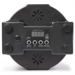 Beamz LED FlatPAR ασύρματος προβολέας DMX με τηλεχειριστήριο IR 154x 10mm RGBW LEDs για πολύχρωμα εφέ με βάση στήριξης