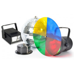 BeamZ Disco Light Σετ φωτισμού με ντισκομπάλα για πάρτυ, γενέθλια, εκδηλώσεις και μικρά cafe bar