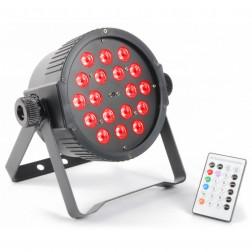 BeamZ FlatPAR 18x 1W RGB LEDs DMX IR