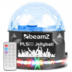 BeamZ PLS10 φορητό ασύρματο ηχείο Bluetooth με επαναφορτιζόμενη μπαταρία, φωτορυθμικό Jellyball με 48 ισχυρά LEDs και USB Mp3 Player