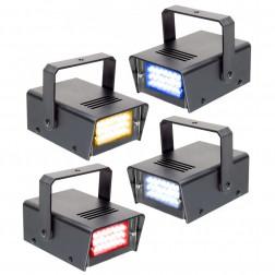 BeamZ Mini Stroboscope LED Set of 4 RYBW