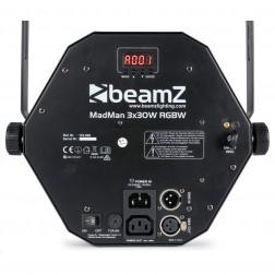 BeamZ MadMan Φωτορυθμικό 3x 30W RGBW 4 σε 1 Beam / 132 SMD 3-in-1 LEDs για cafe, bar, club και εγκαταστάσεις φωτισμού