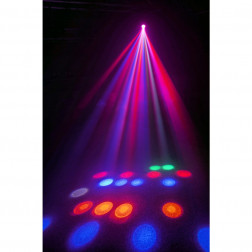 BeamZ Cub4 II LED Quad derby αυτόνομο φωτορυθμικό με moonflower εφέ για πάρτυ, μεγάλες εκδηλώσεις και bar