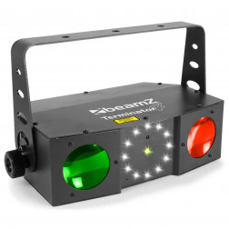 BeamZ Terminator IV LED Double Moon με laser, strobe και Τηλεχειριστήριο