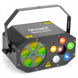 BeamZ Sway Gobo 3 σε 1 φωτορυθμικό εφέ φωτισμού με laser και πολλά χρώματα