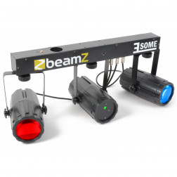 BeamZ 3-Some Light Set 2x 57 RGBW LEDs with Laser R/G