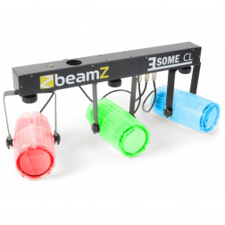 BeamZ 3-Some Light Set 3x 57 RGBW LEDs Clear