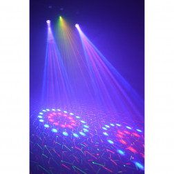 BeamZ Light Package 2: Moon Flower Duo + Laser Red and Green