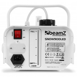 BeamZ Snow900LED επαγγελματική μηχανή χιονιού με ασύρματο χειριστήριο  6 RGB LED φωτισμό και 900 Watt δύναμη