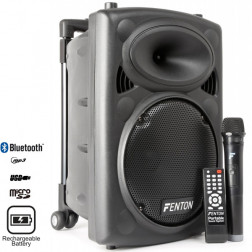 Fenton FPS10 Φορητό ηχοσύστημα με MP3 USB microSD Bluetooth Ασύρματο Μικρόφωνο και μπαταρία