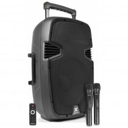 "Vonyx SPJ-PA912 ενεργό φορητό ηχείο με bluetooth MP3 12"" με 2 Mic UHF"