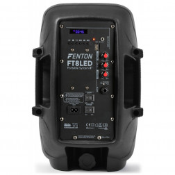 Fenton FT8LED Αυτοενισχυόμενο Φορητό ηχείο 8'' 300W με 1 ενσύρμ. μικρόφωνο, τηλεχειριστήριο, BT USB SD MP3 και φωτισμό LED