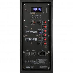 Fenton FT12LED Αυτοενισχυόμενο Φορητό ηχείο 12'' 700W με 1 ασυρμ. μικρόφωνο, τηλεχειριστήριο, BT USB SD MP3 και φωτισμό LED