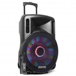 Fenton FT15LED Αυτοενισχυόμενο Φορητό ηχείο 15'' 800W με 1 ασυρμ. μικρόφωνο, τηλεχειριστήριο, BT USB SD MP3 και φωτισμό LED
