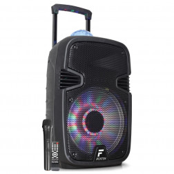 Fenton FT12JB Αυτοενισχυόμενο Φορητό ηχείο 12'' 700W με 1 ασυρμ. μικρόφωνο, τηλεχειριστήριο, BT USB SD MP3, φωτισμό LED και Jellyball εφέ