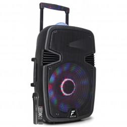 Fenton FT15JB Αυτοενισχυόμενο Φορητό ηχείο 15'' 800W με 1 ασυρμ. μικρόφωνο, τηλεχειριστήριο, BT USB SD MP3, φωτισμό LED και Jellyball εφέ