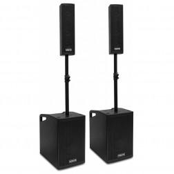 Vonyx VX1050BT ενεργό πλήρες ηχοσύστημα 2.2 με subwoofer, δορυφόρους και Bluetooth/USB/SD