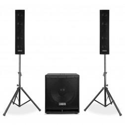 Vonyx VX880BT ενεργό πλήρες ηχοσύστημα 2.1 με subwoofer, δορυφόρους και Bluetooth/USB/SD