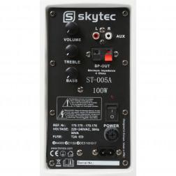 Skytec Ενεργά 2 δρόμων ηχεία ζευγάρι 100W με βάσεις τοίχου