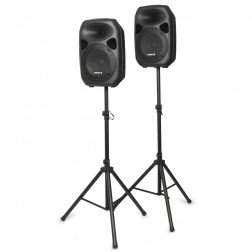 "Vonyx SPS122 ενεργά ηχεία Speaker Set 12"" με Stands και καλώδια"