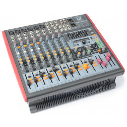 Power Dynamics PDM-S1203a Αυτοενισχυόμενος Stage μίκτης κονσόλα 12-Channel DSP/MP3- USB IN/