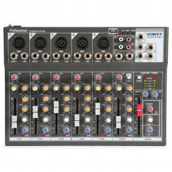 Vonyx VMM-F701 κονσόλα 7 καναλιών με USB/SD mp3 player και echo εφέ