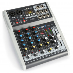 Vonyx VMM-K402 κονσόλα 4 καναλιών με κάρτα ήχου, USB Mp3 player με λειτουργία εγγραφής και DSP εφέ