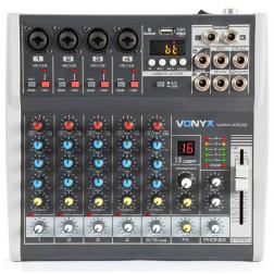 Vonyx VMM-K602 κονσόλα 6 καναλιών με USB player και DSP εφέ