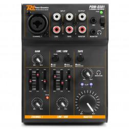 Power Dynamics PDM-D301 USB Μίκτης 3 καναλιών με κάρτα ήχου