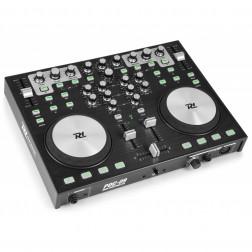 Power Dynamics PDC09 DJ MIDI Controller 2 καναλιών με ενσωματωμένη κάρτα ήχου Virtual DJ