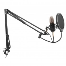 Vonyx Studio Σετ  πυκνωτικό μικρόφωνο με βάση και popfilter youtuber gamer vlogger  reviewer ιδανικό