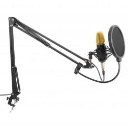 Vonyx CMS400B Studio Σετ πυκνωτικό μικρόφωνο με βάση και popfilter youtuber gamer vlogger reviewer ιδανικό