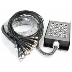 PD Connex Stage Snake 12 εισόδων και 4 εξόδων XLR καλωδίου 15 μέτρων