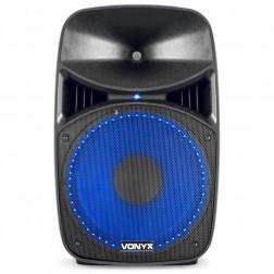 "Vonyx VPS122A Σετ 2 Ηχείων Αυτοενισχυόμενου και Παθητ. 12"" ισχύος 800W με βάσεις, καλώδια, μικρόφωνο, Bluetooth και MP3 USB/SD player"