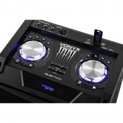 Vonyx PLAY1000 Ενεργό Bluetooth ηχείο 400W με ενσωματωμένο LED και συσκευή αναπαραγωγής USB / SD
