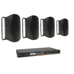 "Power Dynamics Ολοκληρωμένο Πακέτο με 4 ηχεία 5"" και ενισχυτή για εγκαταστάσεις σε Καφέ Μπάρ με δυνατότητες αναπαραγωγής SD/USB/MP3/BT"