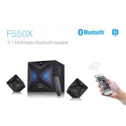 Fenda F550X Σύστημα Ηχείων 2.1 Bluetooth, USB / SD Mp3 και Ραδιόφωνο FM για gaming και υπολογιστές (Black)
