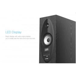 Fenda T-30X Ηχοσύστημα 2.0 Bluetooth, USB Mp3, Ραδιόφωνο FM με τηλεχειριστήριο για gaming και home cinema (Black)