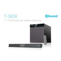Fenda T-360X Ηχοσύστημα 2.1 με Soundbar, Bluetooth, USB Mp3, τηλεχειριστήριο για gaming και home cinema