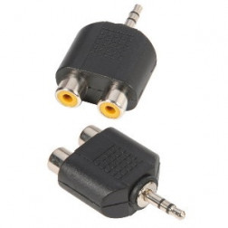 Adam Hall 7550 - Y-Connector 2 x mono RCA female to 3.5 mm stereo Jack male Αντάπτορας