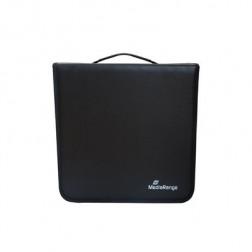 MediaRange θήκη αποθήκευσης για 200 CD από συνθετικό δέρμα, Μαύρο