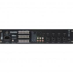 Power Dynamics PDV120ZMP3 120W/100V επαγγελματικός ενισχυτής 4 ζωνών εξόδου ήχου με MP3/USB/FM