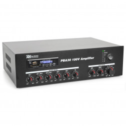 Power Dynamics PBA30 100V 30W επαγγελματικός ενισχυτής εγκαταστάσεων με MP3 player