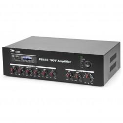 Power Dynamics PBA60 100V 60W επαγγελματικός ενισχυτής εγκαταστάσεων με MP3 player